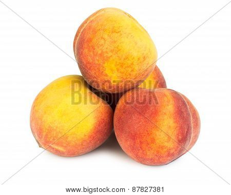 Stack Of Ripe Peaches