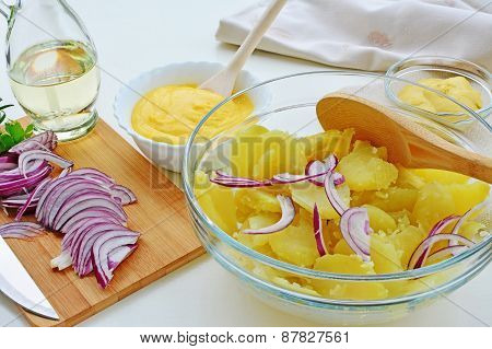 Potato Salad With Mayonnaise, Home Cooking