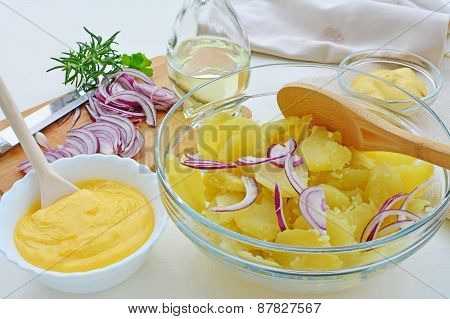 Potato Salad With Mayonnaise, Homemade