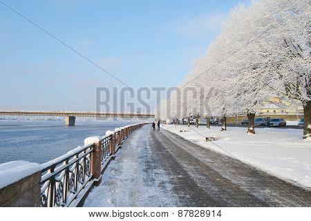 The Embankment In Riga.