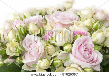 Bouquet of red roses, background