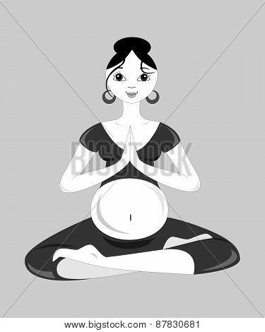 Yoga For Pregnant Women Black