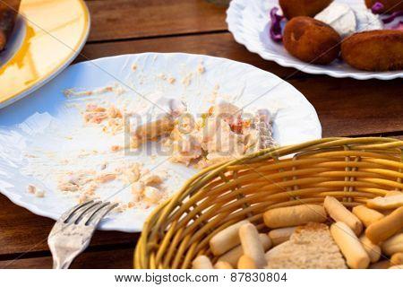 Detail Of Table In Spanish Tapas Restaurant
