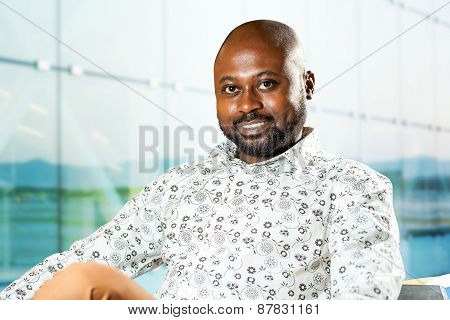 African Businessman In Office.
