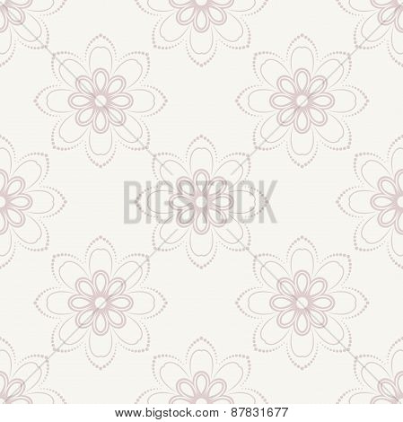 Floral Seamless  Pattern. Orient Abstract Pink Background