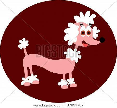 Cartoon Pink Poodle.