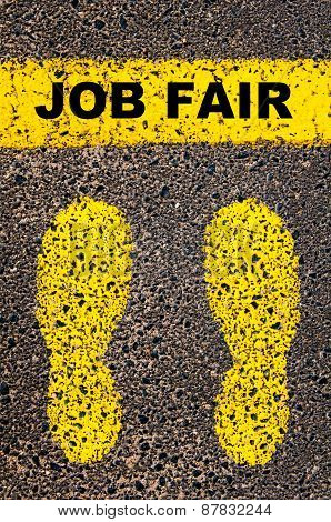 Job Fair Message. Conceptual Image