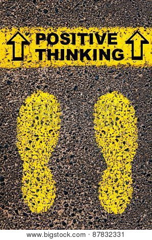 Positive Thinking Message. Conceptual Image