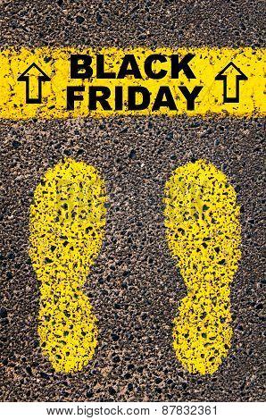 Black Friday Message. Conceptual Image