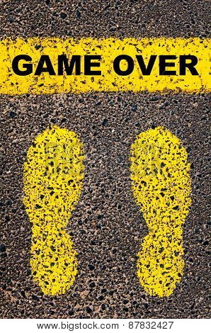 Game Over Message. Conceptual Image