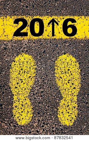 Year 2016 Is Coming Message. Conceptual Image