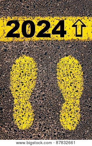 Year 2024  Is Coming Message. Conceptual Image