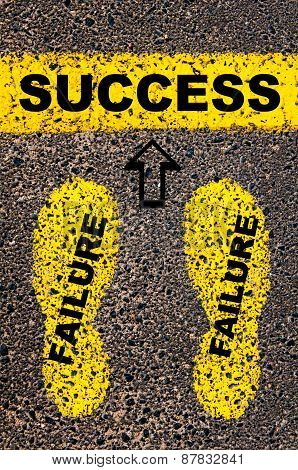 Success As A Result Of Previous Failures.  Conceptual Image