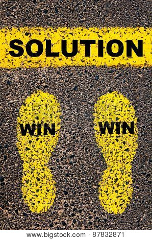 Win Win Solution Message. Conceptual Image