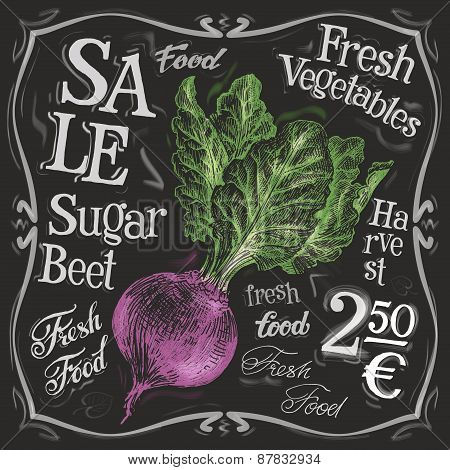 fresh beet vector logo design template. vegetables, food or menu board icon.