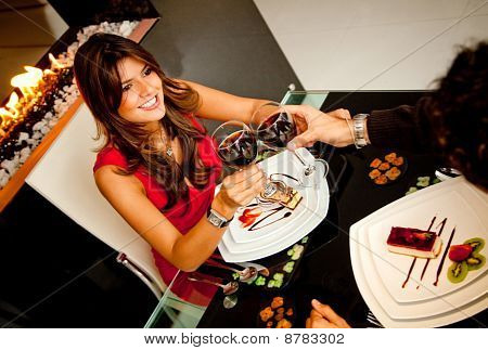 Couple In A Romantic Dinner