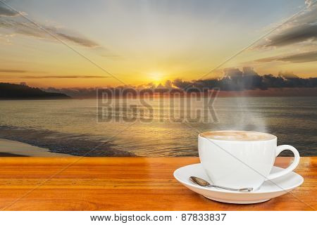 Coffee And Sunset