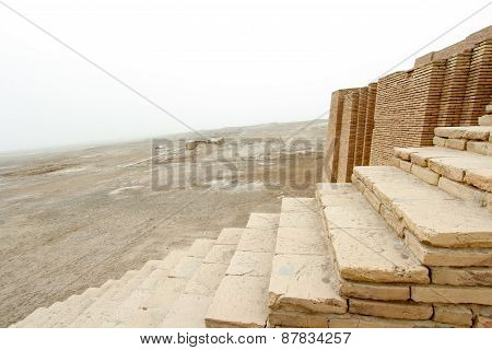 Stairs In Ziggurat Of Ur
