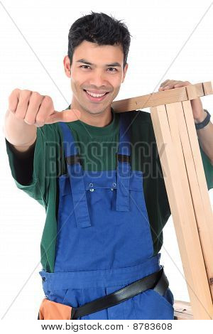 Young Attractive Nepalese Carpenter