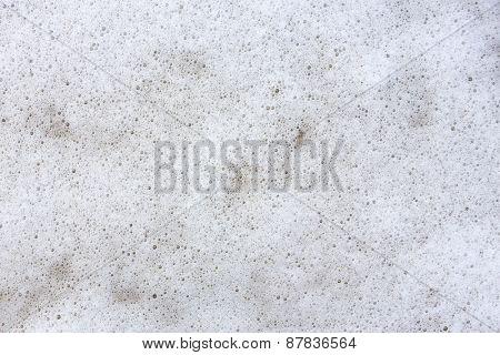 White foam background
