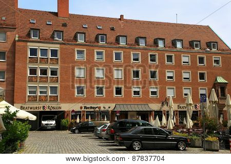 Nuremberg - July 13, 2014 : View Of Street In Central Part Of Nurember