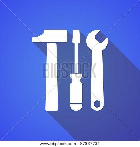 Long Shadow Tool Set Icon