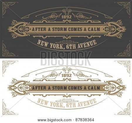 Invitation card  template. Vector vintage background. with flourishes calligraphic ornaments and Retro typographic.