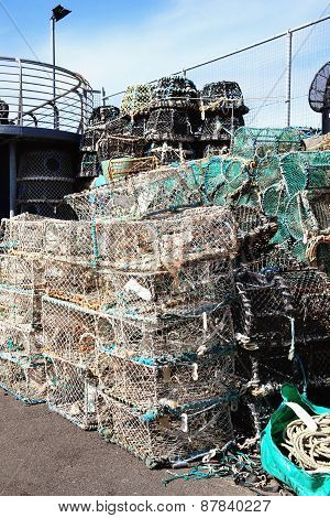 Lobster traps and crab pots