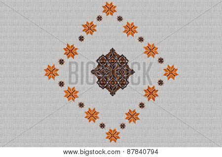 background with embroidered pattern