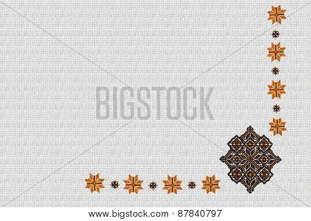 background with Ukrainian pattern