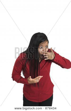Woman Sensing Bad Smell