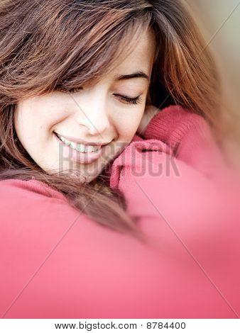 Woman Cuddling