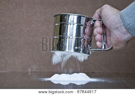 flour on the table