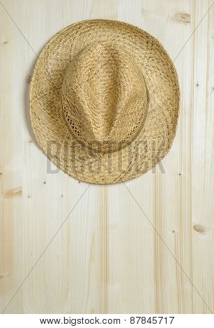 A traditional summer straw hat