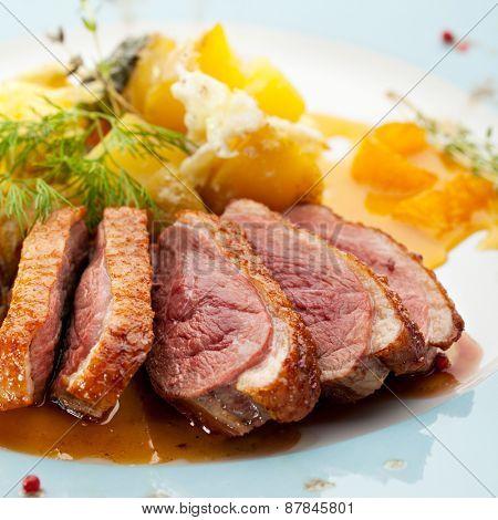 Duck Breast with Orange and Potato