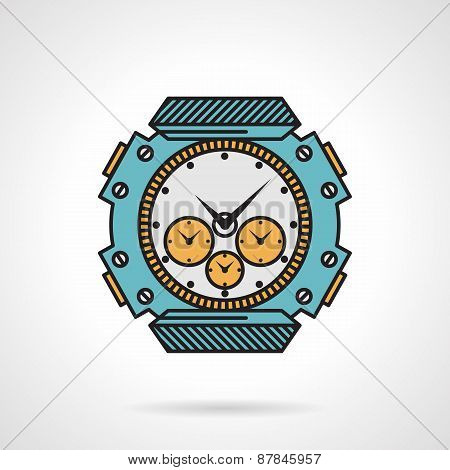 Sport watch flat style vector icon