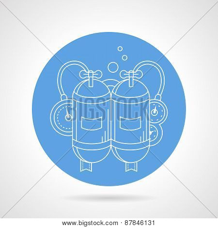 Aqualung round vector icon