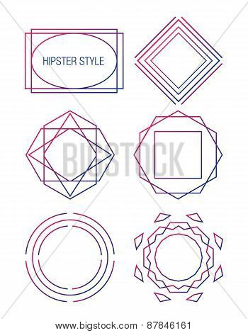 Retro Vintage Hipster Logotypes set. Business Signs, Logos, Identity Elements, Labels, Badges, Frame