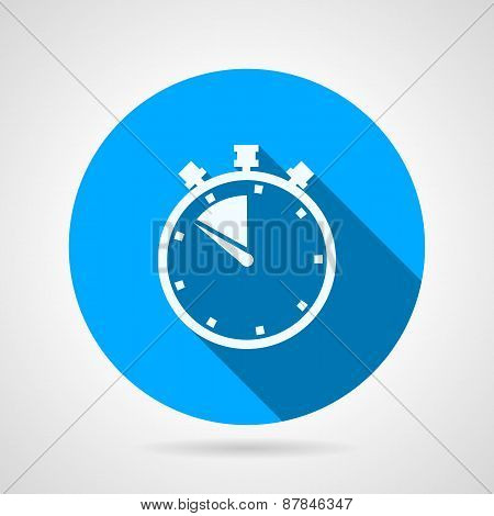 Stopwatch round flat vector icon