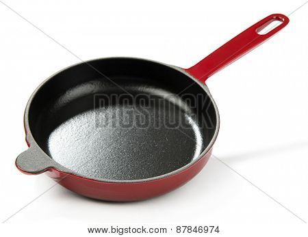 Red Cast Iron Pan