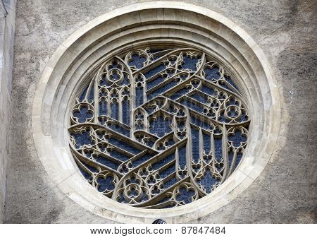 VIENNA, AUSTRIA - DECEMBER 11: Window of Minoriten kirche in Vienna, Austria on December 11, 2011.
