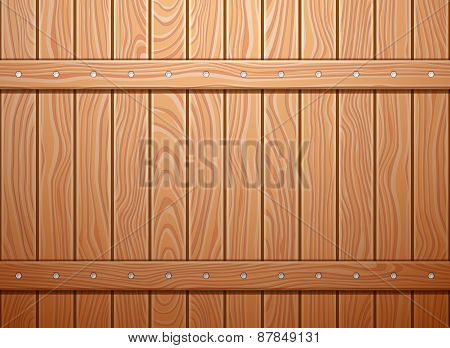 Wood wall texture. Vector background.