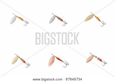 Fishing bait isolated on white