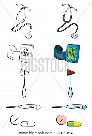 Medical Equipment Vector Illustration