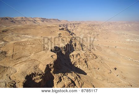 Judean Desert And Roman Fortification