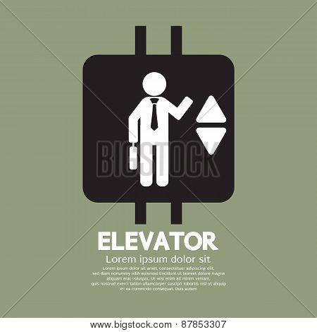 Elevator Graphic Symbol.