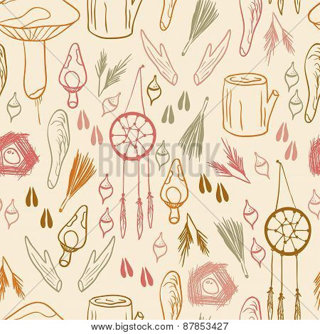 Hand Drawn Woodland Pattern