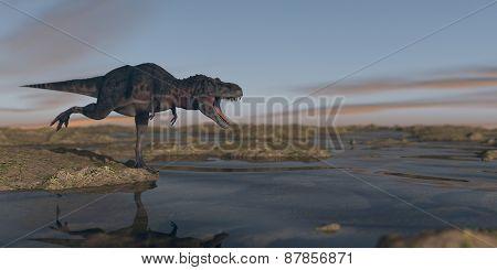 hunting tarbosaurus