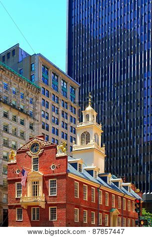 Boston Old State House buiding in Massachusetts  USA