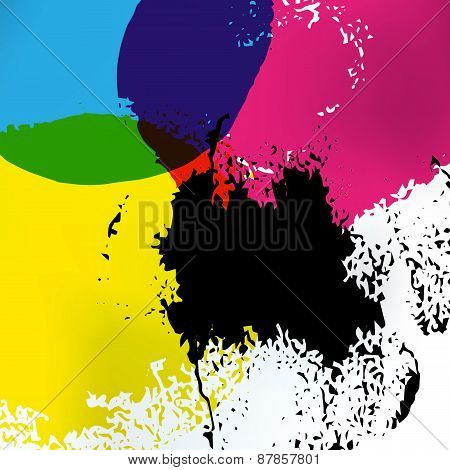 Cmyk Print Service Drawing Background